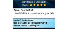 I found that the accupuncture is of great help