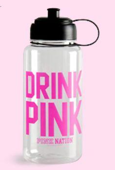 PINK water bottle by Victoria's Secret.