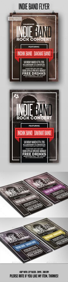 DJ and Band Music Concert Flyer Concerts, Music concerts and Flyers - band flyer template
