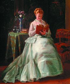 """~ """"A Quiet Read"""" by Thomas Charles Farrer ~ This is my precious, still time to me! :}"""