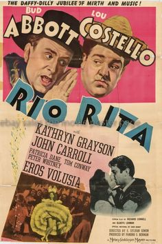 Rio Rita 1942 Abbott and Costello US one-sheet movie poster
