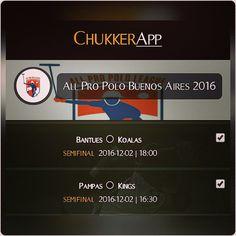 """ChukkerApp en Twitter: """"Viernes 02!!! #Semifinales #allpropolobuenosaires2016 @AllProPolo Sigue los resultados con @ChukkerApp,, Gratis!!!"""