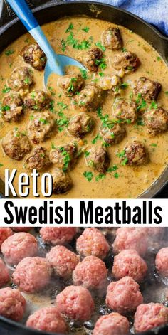 If you enjoy Ikea's swedish meatballs then you'll want to make these keto swedish meatballs! These savory swedish meatballs are low carb and made with ground beef and a rich flavorful gravy sauce! Perfect dinner ideas for the whole family!  #keto #ketodiet #ketorecipes #ketoswedishmeatballs #swedishmeatballs #groundbeefrecipes #dinnerideas #food #recipes