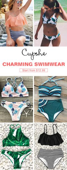 Can't beat the hot! Start from $12.99, Cupshe bikini sets will realize all your dreams at the beach. Charming look, comfy fabric, super quality and good service. Cupshe is your best choice.