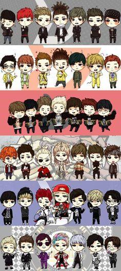 Block B fanart From left to right: Kyung, B-Bomb, P.O., Zico, Jaehyo, U-Kwon, Teil