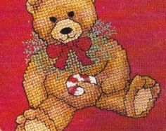 Teddy's Christmas Closet Counted Cross Stitch Pattern Charted Designs from Leisure Arts