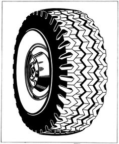 Drawing of a tire by Roy Lichtenstein, 1962, From the gallery : Art