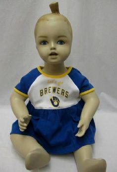 Brewers Newborn Let's Go Romper Dress