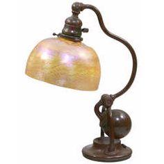 "Art Nouveau ""Counter-Balance"" Desk Lamp by Tiffany Studios"