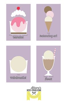 Ice Cream Party signs.