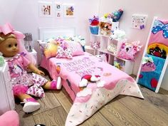 Charmant JOJO SIWA~AMERICAN GIRL DOLL BEDROOM SET UP (NEW ROOM TOUR)   YouTube
