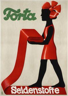 Forta Seidenstoffe  Entwurf Niklaus Stoecklin, Schweiz 1927