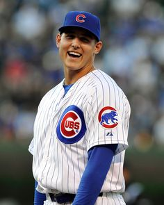 Thanks to guys like Anthony Rizzo, you don't have to be a Cubs fan to want to watch the games. Rizzo makes it easy to want to keep up with the Cubs. He's naturally gifted in athletics Baseball First, Baseball Tops, Chicago Cubs Baseball, Baseball Quotes, Cubs Players, Baseball Players, Chicago Cubs History, Cubs Wallpaper, Cubs Win