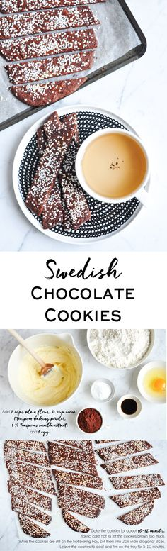 Swedish Chocolate Cookies, or Chokladsnittar. Perfect for afternoon tea, or anytime of the day! Step-by-step photos | eatlittlebird.com