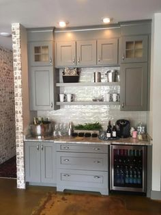 Astonishing Built Kitchen Pantry Design Ideas 31 There are two very important options that should be considered in every large kitchen pantry cabinet design. Although these options … Kitchen Pantry Design, Kitchen Pantry Cabinets, Kitchen Redo, New Kitchen, Kitchen Ideas, Cabinets In Dining Room, Pantry Ideas, Kitchen Wet Bar, Kitchen Counters