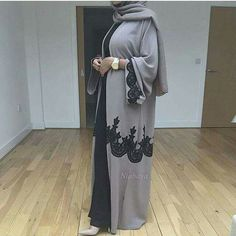 Modest Wear, Modest Dresses, Modest Outfits, Niqab Fashion, Modest Fashion, Fashion Outfits, Islamic Women's Clothing, Fashion Blogger Instagram, Black Abaya