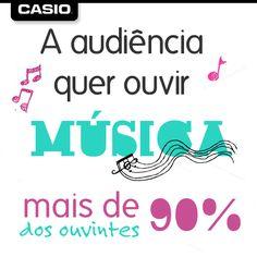 90% dos ouvintes querem ouvir #música.