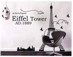 Eiffel Tower idea wall Stiker