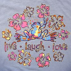 Peace Frogs, I had these stickers everywhere. I think I actually had this shirt