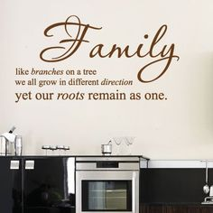 family wall decals quotes | Family Wall Quotes Art Wall stickers / Wall decals / Wall Mural from ...