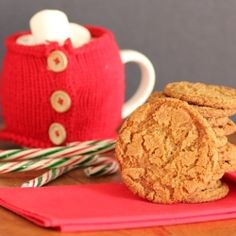 Gingersnaps for National Cookie Day by NoshingwTheNolands