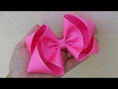Laço exótico fita n 9 - YouTube Diy Hair Bows, Baby Bows, How To Make Bows, Diy Hairstyles, Fabric Flowers, Hair Clips, Scrap, Ribbon, Hair Accessories