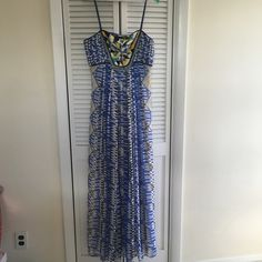 Anthropologie  Sunburst Maxi dress by Ranna Gill Gorgeous sunburst maxi dress with beaded detail in front. Zipper on the side. Flirty and beautiful that can be worn for any special occasion. In excellent condition with no flaws. Anthropologie Dresses Maxi