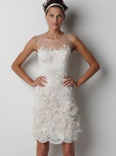 Knee Length Wedding Dress with Vintage style lace | Bridal Style/Ask Boho