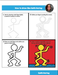 Haring Art History Worksheets and Art Activities Keith Haring Worksheets and Art Activities - No Prep Art HistoryKeith Haring Worksheets and Art Activities - No Prep Art History Kindergarten Art Lessons, Art Lessons For Kids, Art Lessons Elementary, Art For Kids, Middle School Art, Art School, Personajes Monster High, Keith Haring Art, Artist Project