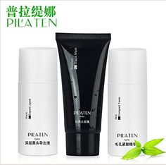 KBeauty  10sets acne removing PILATEN 3pcs Set black head export liquidblack mud maskcompact toner antiacne shrink pore smooth skin *** More info could be found at the image url.