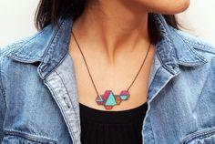 Graphic Geometric Necklace