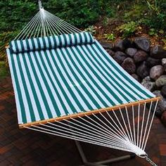 Relax the day away in the Algoma 13 ft. Quick Dry Hammock with Large Pillow . You'll spend every free moment in your outdoor oasis. Backyard Hammock, Hammock Bed, Hammock Stand, Hammocks, Hammock Ideas, Water Hammock, Hammock Accessories, Home Decor Accessories, Outdoor Sofa