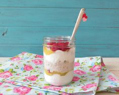 Raspberry Lemon Breakfast Jar - spike yogurt w/pro powder
