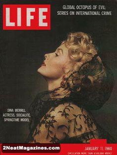 Life Magazine January 11, 1960 : Cover - Dina Merrill - actress, socialite and springtime model.