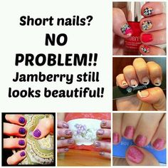 """Are you thinking """"GREAT…these are pretty but I bite my nails?"""" Or maybe """"I have the shortest nails, these will NEVER work for me?"""" Well you're in luck! Nail Biters and ladies with short nails across the country have been LOVING wearing Jamberry Nails. In fact, Nail Biters…it's awfully hard to chew through vinyl. This might just be the solution you were looking for!!! Shop anytime at http://tatieason.jamberrynails.net/"""