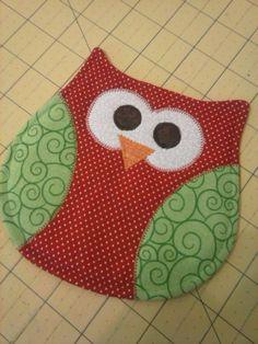Owl Mug Rug - Owl Coaster - Mug Rug - Coasters - Mug Rugs - Owls