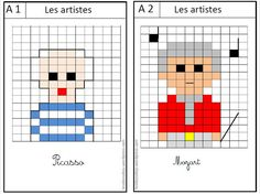 pixel moi1 Pixel Art, Art History Memes, Math School, Art Plastique, American History, Activities For Kids, Coding, Education, Drawings
