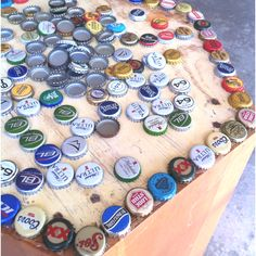 Beer cap table. I've been saving my caps for like a year now.