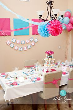 {Real Parties} Sophie's Fabulous Spa Birthday Party! | The TomKat Studio - the table setting.