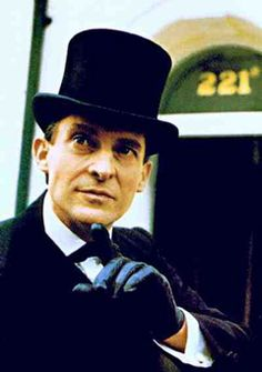 Jeremy Brett as Sherlock Holmes. There have been many Holmes and many of them have been great. But Jeremy Brett becomes Holmes.