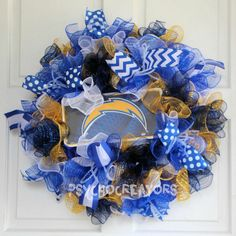 San Diego Chargers Wreath  CHOICE of License by PsychoCreators