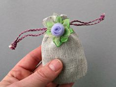 Mini drawstring gift pouch Natural jewelry by MadebyInese on Etsy