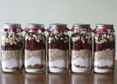Cookie mix in a jar.