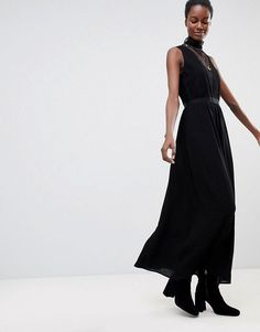 f461fa48fad6 Shop Deby Debo Sochic Lace Front Maxi Dress at ASOS.