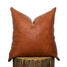 FAUX BOURBON LEATHER PILLOW COVER Back: Natural Cream Denim Invisible zipper closure along edge. Sizes are approximate. Please pay close attention to the sizing. (Fits insert) (Fits insert) (Fits insert) (Fits insert) (Fits off small business saturday Young House Love, Cool Diy, Diy Window Shades, Bourbon, Bedroom Built Ins, Built In Bunks, Shed Storage, Storage Ideas, Backyard Storage