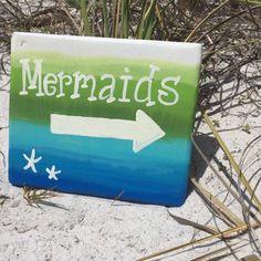 Hey, I found this really awesome Etsy listing at https://www.etsy.com/listing/279407270/wood-beach-signs-mermaid-beach-bathroom