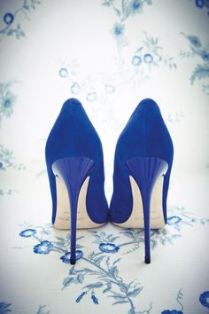 Blue Jimmy Choo heels , from Iryna