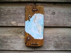 Journey Wall Hanging  Enjoy The Journey  I made this Mixed Media Travel Wall Hanging on a piece of Reclaimed Wood.