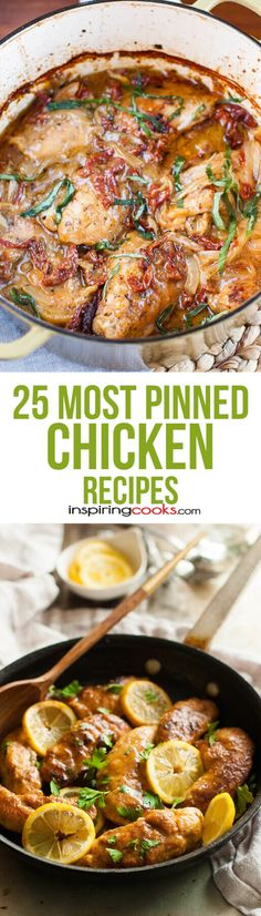 These chicken recipes look so good. I can't believe all of them have been pinned at least 50,000 times! So need to try them.