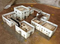 Paper model set: Sci-fi Style Buildings. Foldable Paper Ccenery System. 28 mm, 1/72, 15 mm, 6mm scale